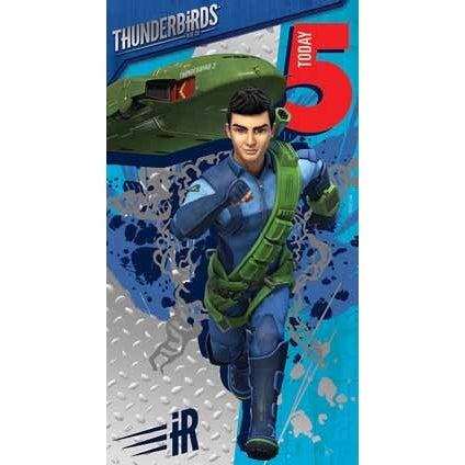 Thunderbirds Are Go Age 5 Birthday Card