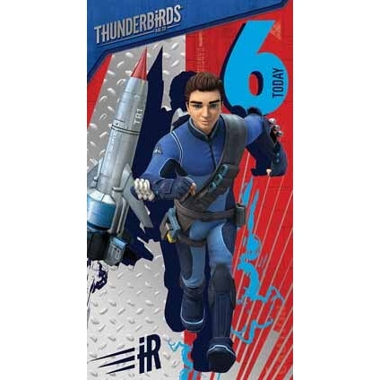 Thunderbirds Are Go Age 6 Birthday Card