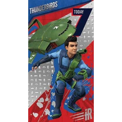 Thunderbirds Are Go Age 7 Birthday Card