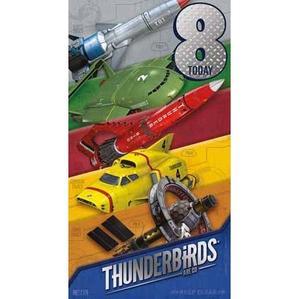 Thunderbirds Are Go Age 8 Birthday Card