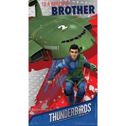 Thunderbirds Are Go Brother Birthday Card