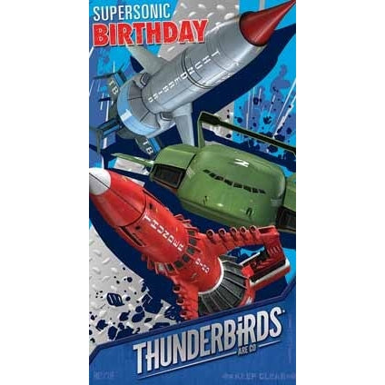 Thunderbirds Are Go Birthday Card