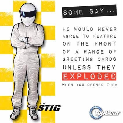 Top Gear Caption Greeting Card
