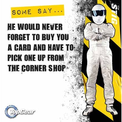 Top Gear Square Greeting Card
