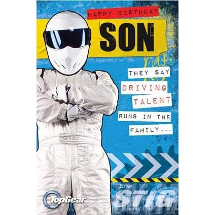 Top Gear Son Birthday Card