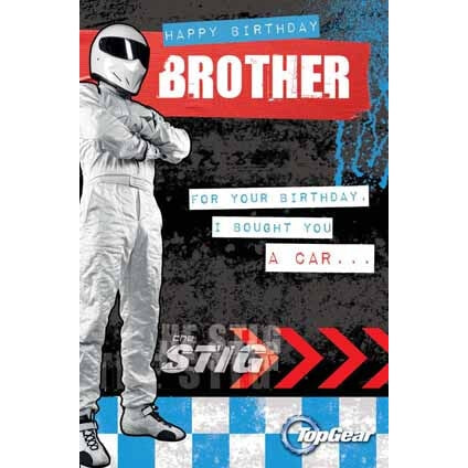 Top Gear Brother Birthday Card