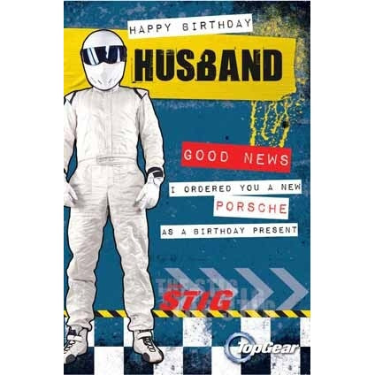 Top Gear Husband Birthday Card