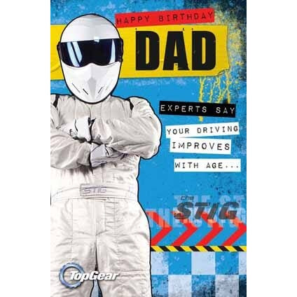 Top Gear Dad Birthday Card