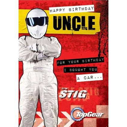 Top Gear Uncle Birthday Card