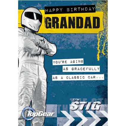 Top Gear Grandad Birthday Card