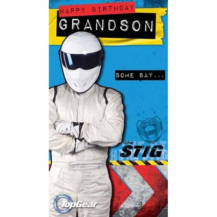 Top Gear Grandson Birthday Card