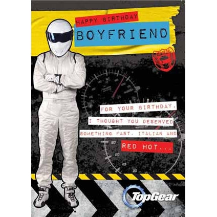 Top Gear Boyfriend Birthday Card