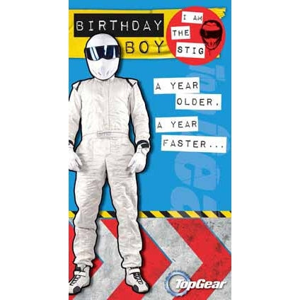 Top Gear Birthday Boy Badged Card