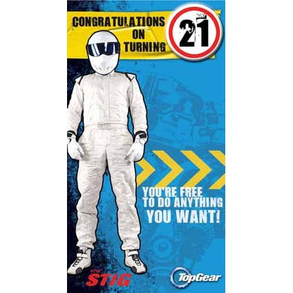 Top Gear 21st Birthday Badged Card