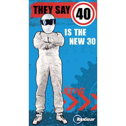 Top Gear 40th Birthday Card