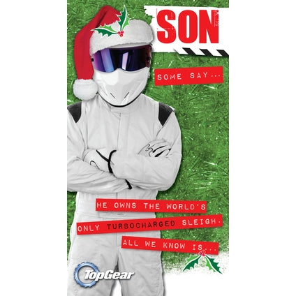 Top Gear Son Christmas Card