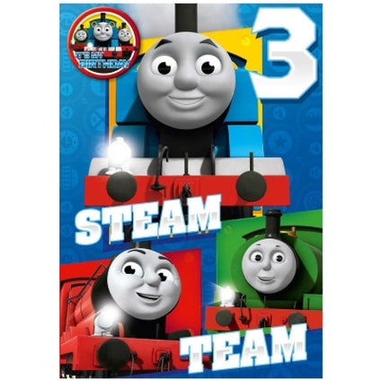 Thomas and Friends 3-Year-Old Birthday Card & Badge