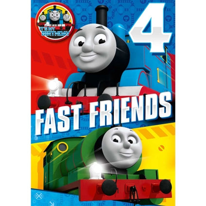 Thomas and Friends 4-Year-Old Birthday Card & Badge