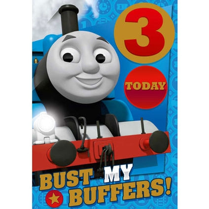 Thomas and Friends 3-Year-Old Birthday Card