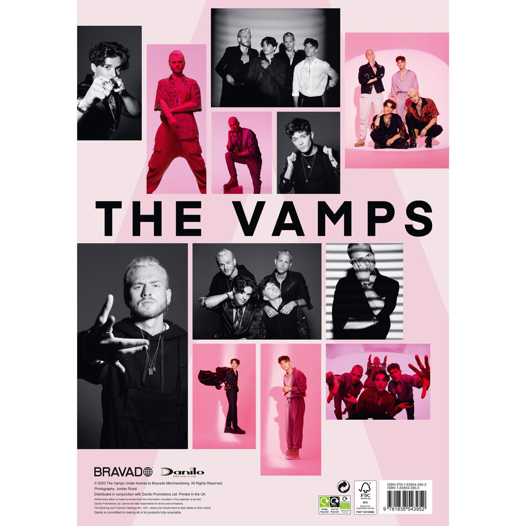 The Vamps 2021 Calendar Back