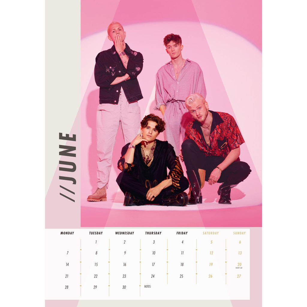 The Vamps 2021 Calendar Inside