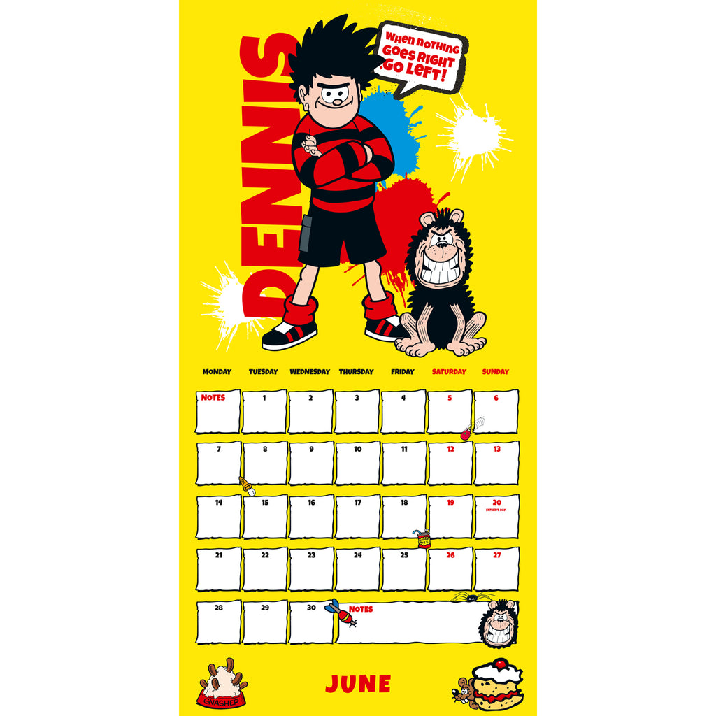 The Beano (Classic) 2021 Calendar Inside