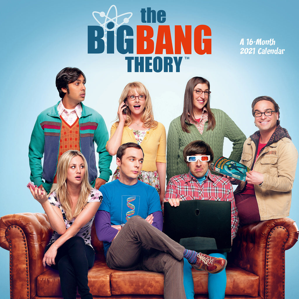 Big Bang Theory Official 2021 Square Wall Calendar FRONT