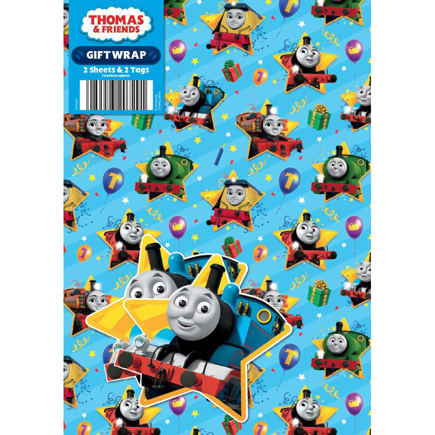 Thomas & Friends Gift Wrap 2 Sheets & Tags