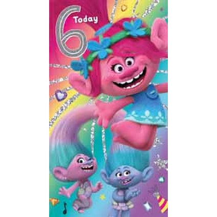 Trolls Age 6 Birthday Card
