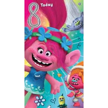 Trolls Age 8 Birthday card