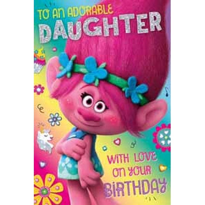 Trolls Pop-up Daughter Birthday Card