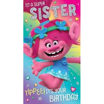 Trolls Sister Birthday Card