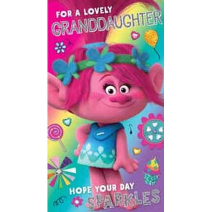 Trolls Granddaughter Birthday Card