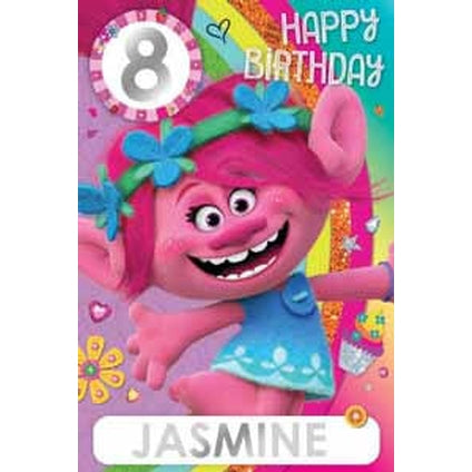 Trolls Any Age & Name Birthday Card