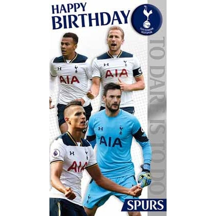 Tottenham Birthday Card with Badge
