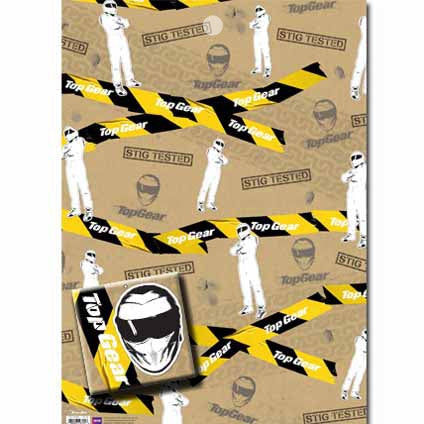 Top Gear Gift Wrap 2 Sheets & Tags