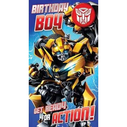 Transformers The Last Knight Birthday Boy Badged Card