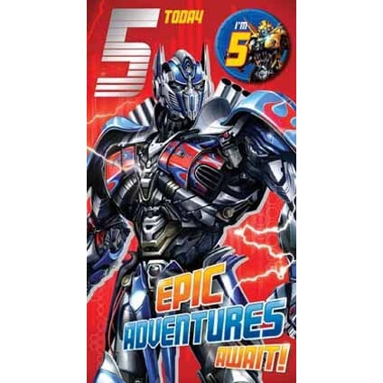 Transformers The Last Knight Age 5 Badged Card