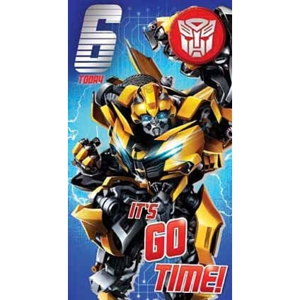Transformers The Last Knight Age 6 Badged Card