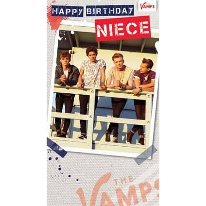 The Vamps Niece Birthday Card