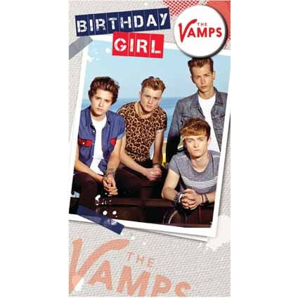 The Vamps Badged Birthday Card
