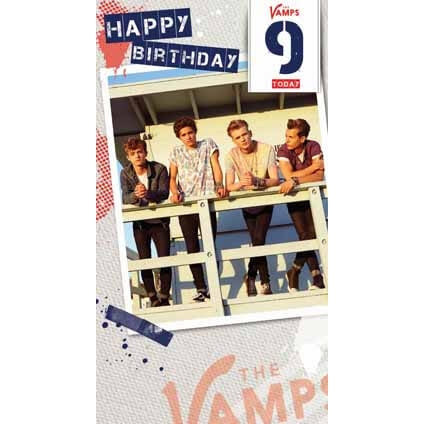 The Vamps Age 9 Birthday Card
