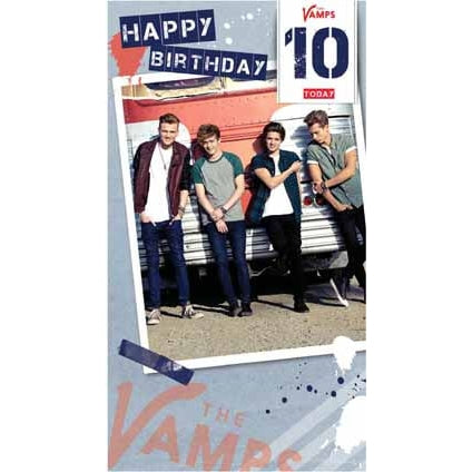 The Vamps Age 10 Birthday Card