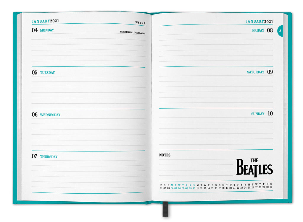 The Beatles 2021 A5 Diary Inside 3D