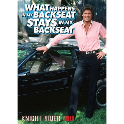 Knight Rider Retro Card