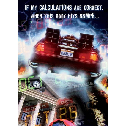 Back to the Future Retro Birthday Card
