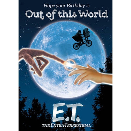 ET Out of this World Retro Birthday Card