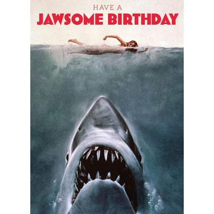 Jaws Retro Birthday Card
