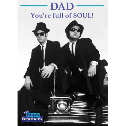 The Blues Bothers Fathers Day Card