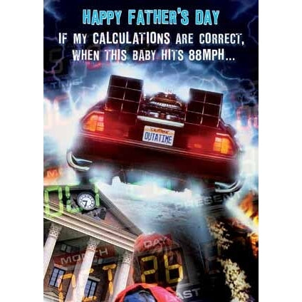 Back to the Future Fathers Day Card